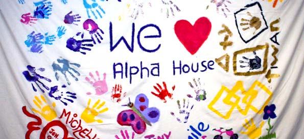 Alpha House Hand Mural