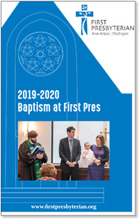 2019-2020 Baptism at First Pres