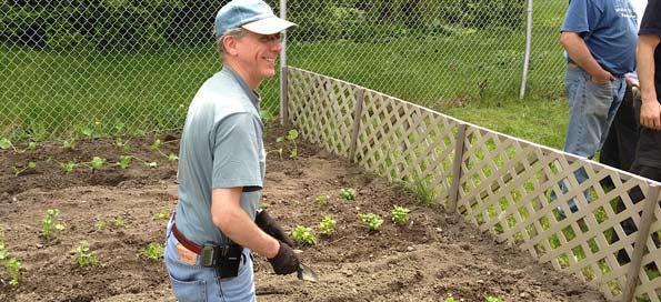 Planting a garden for CASS