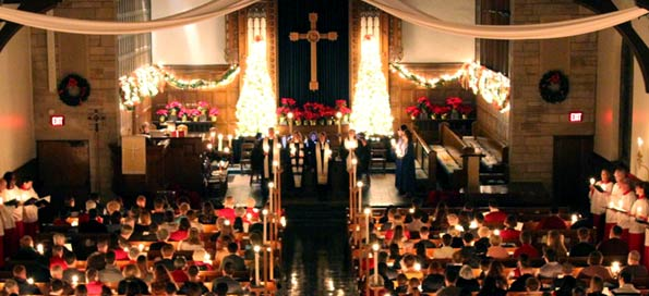 A candlelight Christmas Eve Service