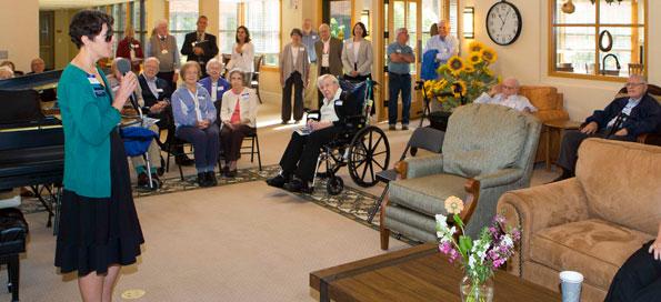 Rev. Dorothy Parks-Piatt at Glacier Hills