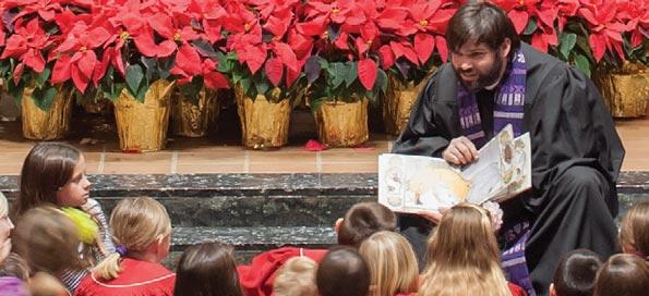 Rev. Eric Koenig-Reinke giving a Children's Sermon