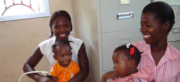 Haitian residents at the clinic