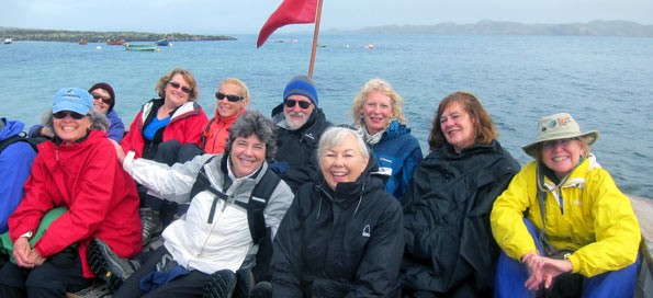 An Iona group on the dock