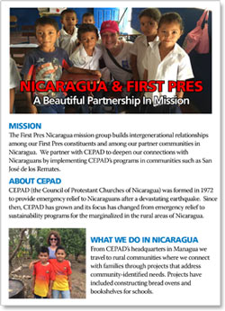 Nicaragua and First Pres: A Beautiful Partnership in Mission