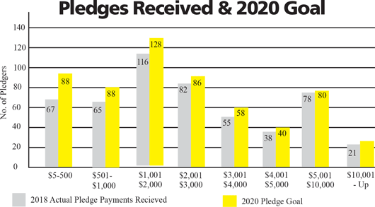 Pledges Received and 2020 Goal Graph